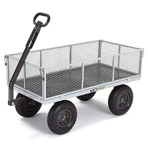 Gorilla Carts GOR1001-COM Heavy-Duty Steel Utility Cart
