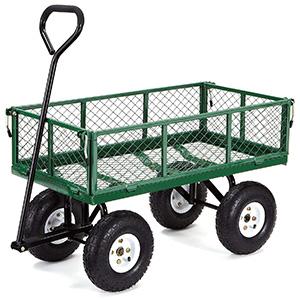 Gorilla Carts GOR400-COM Steel Garden Cart