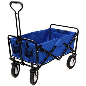 MacSports Collapsible Folding Heavy-Duty Lawn/Garden Utility Cart