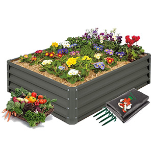 Mr. Stacky High-Grade Metal Raised Garden Bed Kit